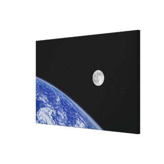 Earth and Moon 2 Canvas Print