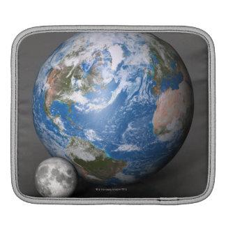 Earth and Moon 2 iPad Sleeve