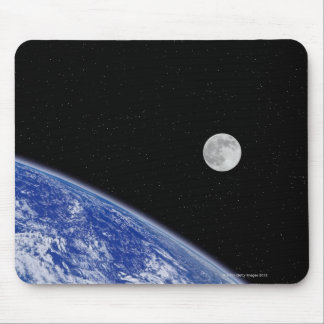 Earth and Moon 2 Mouse Pad