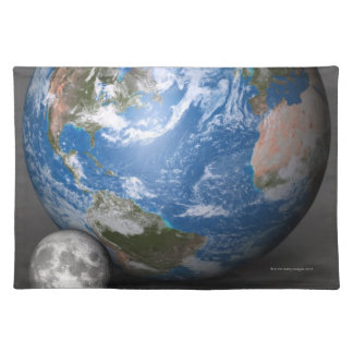 Earth and Moon 2 Place Mats