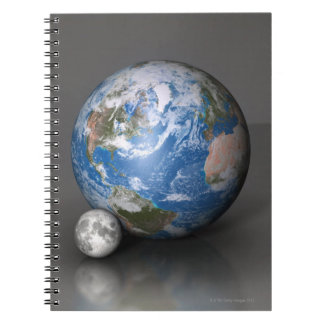 Earth and Moon 2 Spiral Notebook