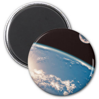 Earth and Moon 6 Cm Round Magnet