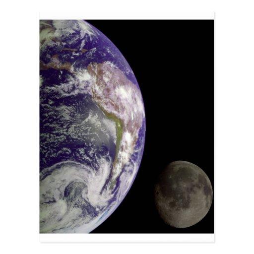 Earth and Moon by Galileo Postcard