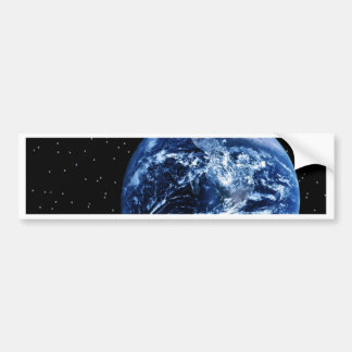 Earth and Moon Car Bumper Sticker