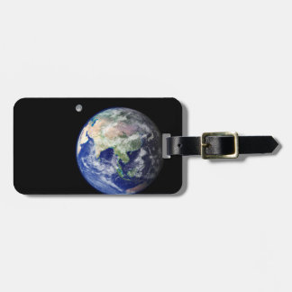 Earth and Moon from Space Luggage Tag