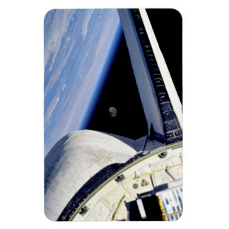 Earth and Moon from Space Shuttle Discovery Rectangular Photo Magnet