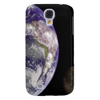 Earth and Moon Galaxy S4 Case