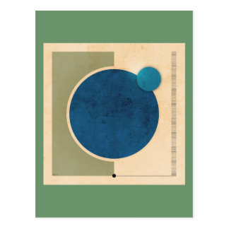 Earth And Moon Graphic Postcard