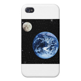 Earth and Moon iPhone 4/4S Cases
