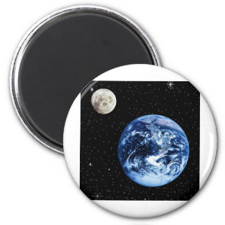 Earth and Moon Refrigerator Magnets