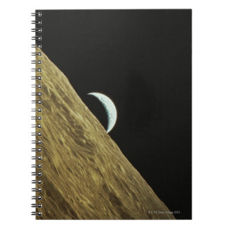Earth and Moon Spiral Notebook