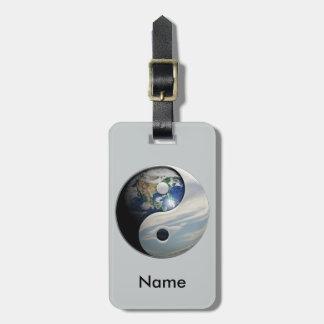 Earth and Sky Yin Yang Luggage Tag