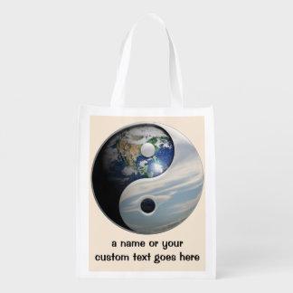 Earth and Sky Yin Yang Reusable Grocery Bag