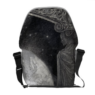 """Earth and the Milky Way"" messenger bag"