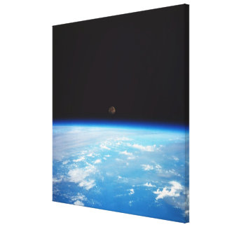 Earth and the Moon Canvas Print