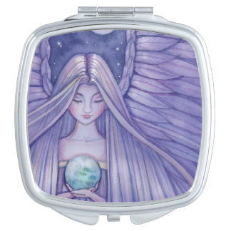Earth Angel Fantasy Art Mirror For Makeup