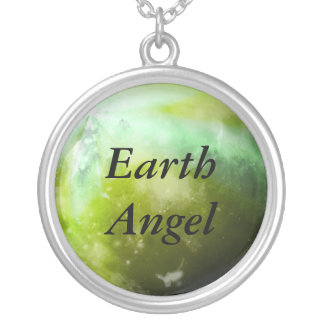 'Earth Angel' silver plated necklace