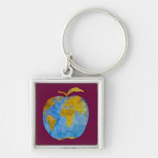 Earth Apple Key Ring