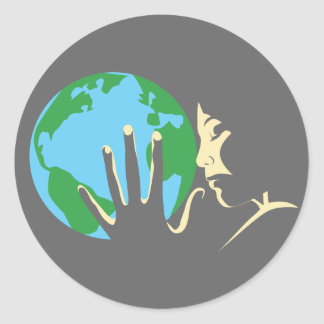 Earth at Heart Round Sticker