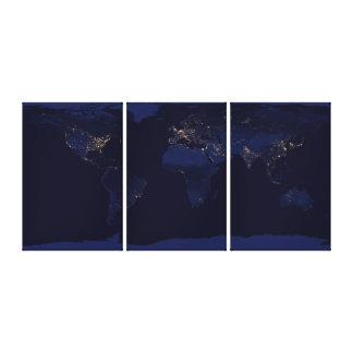 Earth at Night Canvas Print