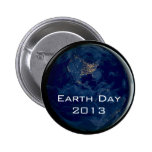 Earth at Night from Space Earth Day Button