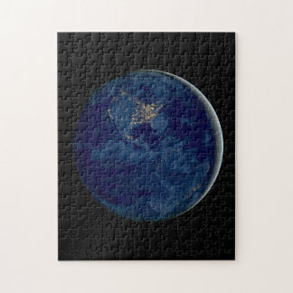 Earth at Night from Space Puzzle