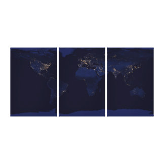 Earth at Night Gallery Wrap Canvas