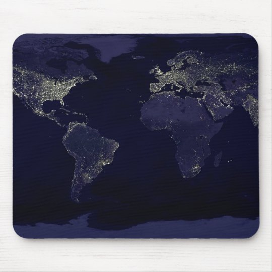 Earth at Night Mouse Mat