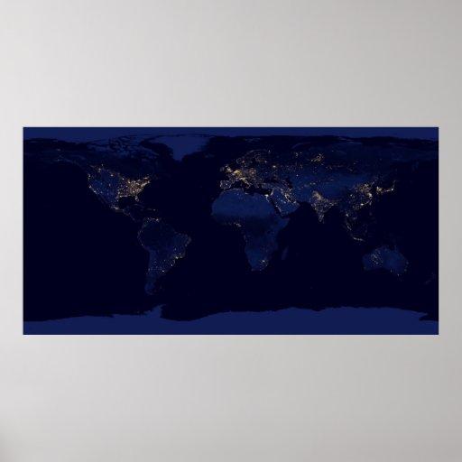 Earth at Night Print