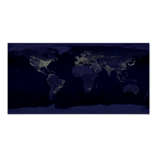 Earth at Night Poster