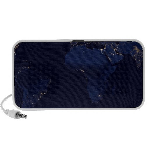 Earth At Night Travel Speakers
