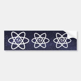 Earth Atoms Minimal Bumper Sticker