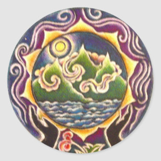 Earth Blessing Mandala Sticker