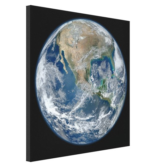 Earth blue marble Wrapped Canvas