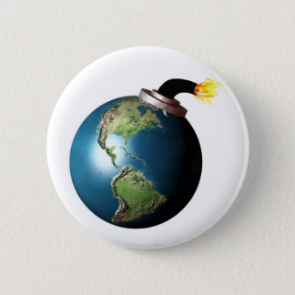Earth bomb 6 cm round badge