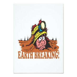 "Earth Breaking 5"" X 7"" Invitation Card"