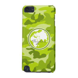 Earth; bright green camo, camouflage iPod touch 5G covers