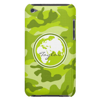 Earth; bright green camo, camouflage iPod touch covers