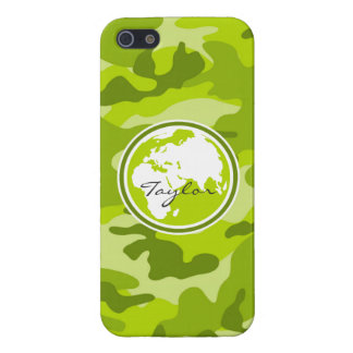 Earth bright green camo camouflage iPhone 5/5S cover