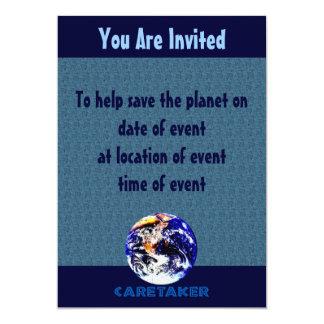 Earth Caretaker 13 Cm X 18 Cm Invitation Card
