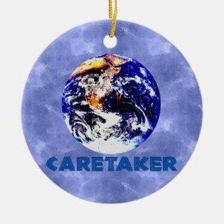 Earth Caretaker Round Ceramic Decoration