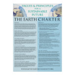 Earth Charter Poster - 22x31 Semi-Gloss