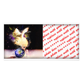 Earth Chick Personalized Photo Card