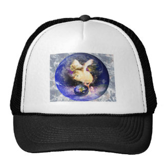 Earth Chick W/Earth Background Hats