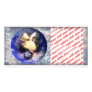 Earth Chick W/Earth Background Picture Card