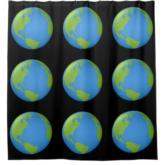 Earth Classic 3D Shower Curtain
