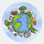 earth classic round sticker