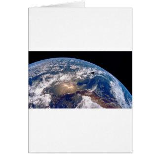 Earth closeup greeting card