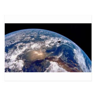 Earth closeup postcard