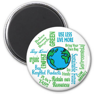 Earth Collage 6 Cm Round Magnet
